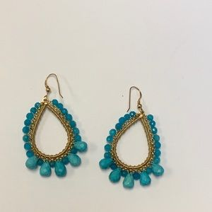 KEP Designs turquoise and gold drop earrings